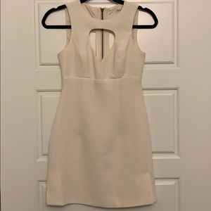 BCBG Cream Shift Dress with Cut Outs